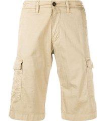 fay straight leg cargo shorts - neutrals