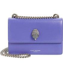 kurt geiger london shoreditch leather crossbody bag - purple