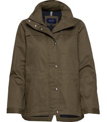 d1. short casual jacket parka lange jas jas groen gant