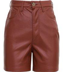 nanushka leana shorts in brick colored vegan leather
