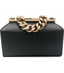 stella mccartney small clutch chunky chain bag - black