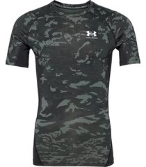 ua hg armour camo comp ss t-shirts short-sleeved svart under armour