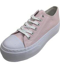 zapatilla plataforma rosa todopiel