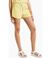 style & co cotton striped drawstring shorts, created for macy's