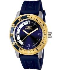reloj invicta azul modelo 128kl para hombre, colección specialty