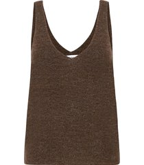 etoile top t-shirts & tops knitted t-shirts/tops bruin stylein