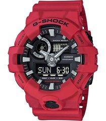reloj g-shock ga_700_4a rojo resina