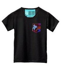 camiseta masculina algodão bolso estampa flor conforto