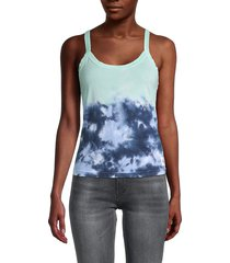 calvin klein jeans women's high tide tie-dyed tank top - cumulus combo - size m