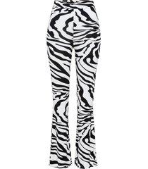 leggings a zampa in fantasia zebrata (bianco) - rainbow