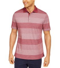 tasso elba men's dot-stripe polo shirt, created for macy's