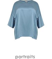 blouse short silk