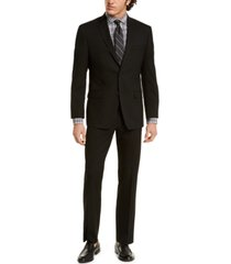 marc new york by andrew marc men's modern-fit solid black suit