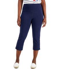 karen scott petite pull-on capri pants, created for macy's