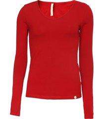 blusa lunender lisa vermelha - vermelho - feminino - algodã£o - dafiti