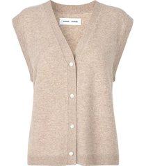 amaris cardigan vest in warm grey