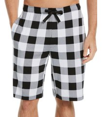 perry ellis portfolio men's buffalo plaid pajama shorts