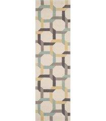 "martha stewart collection color chain msr4563c azure 2'3"" x 8' runner area rug"