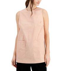 alfani sleeveless patch-pocket top, created for macy's