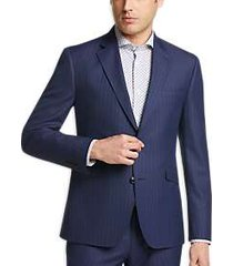 james tattersall kings cross blue stripe extreme slim fit suit