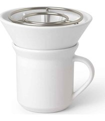 conjunto para café perk caneca 280 ml cerâmica matte umbra