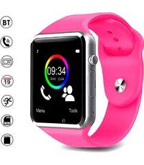 smartwatch reloj inteligente a1 android rosado