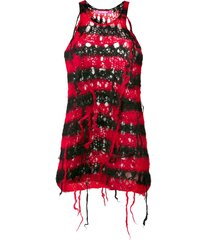 junya watanabe comme des garçons pre-owned distressed knitted dress -