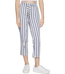 bcbgeneration belted striped pants