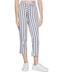 bcbgeneration striped sash-belt pants