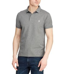 polera hombre slim fit stretch mesh gris polo