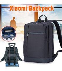 xiaomi classic mochila 17l oxford impermeable al aire libre del ordenador portátil bolsa de viaje de negocios 15 pulgadas portátil bolsa al aire libre viajes- negro