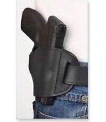 new black genuine leather belt slide holster for ruger lc-9 (9mm)