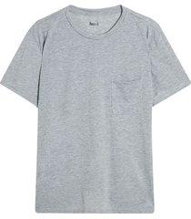 camiseta descanso hombre unicolor color gris, talla l