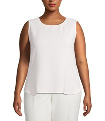 anne klein plus size scoop-neck sleeveless top
