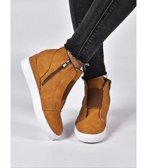 wedges zip diseño zapatos individuales casuales