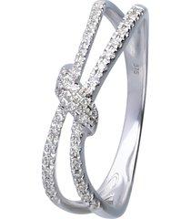 anello in oro bianco con diamanti 0,114 ct per donna