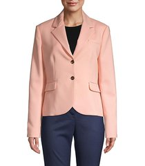 notch wool-blend jacket