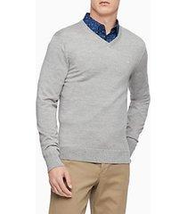sweater merino gris calvin klein