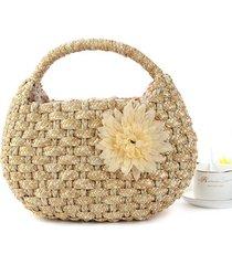 2017 beach bag straw beach bag fashion summer weave woven totes women top handle