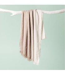 lenço bannes cor: cáqui - tamanho: único