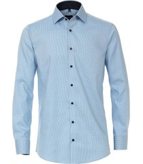 venti heren overhemd turquoise oxford kent modern fit