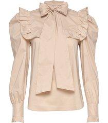 vivica blouse lange mouwen beige custommade