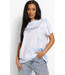 tie dye long line ye saint west t-shirt, blue