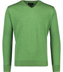 v-hals trui wol groen portofino