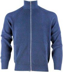 brunello cucinelli full zip cardigan sweater in half english rib in cotton