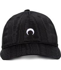 marine serre marine moon cap - black