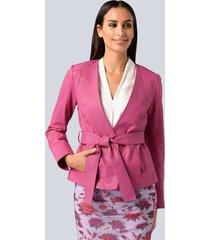 leren blazer alba moda pink