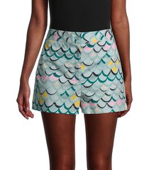m missoni women's wave-print a-line shorts - size 40 (4)