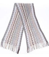 missoni chevron knit scarf multicolor sz: