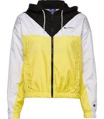 hooded full zip sweatshirt sommarjacka tunn jacka gul champion
